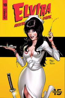 Dynamite Entertainment Elvira: Mistress of the Dark Cover C by John Royle