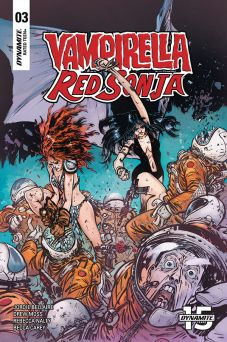 Dynamite Entertainment Vampirella/Red Sonja #3 Cover C by Daniel Warren Johnson & Mike Spencer