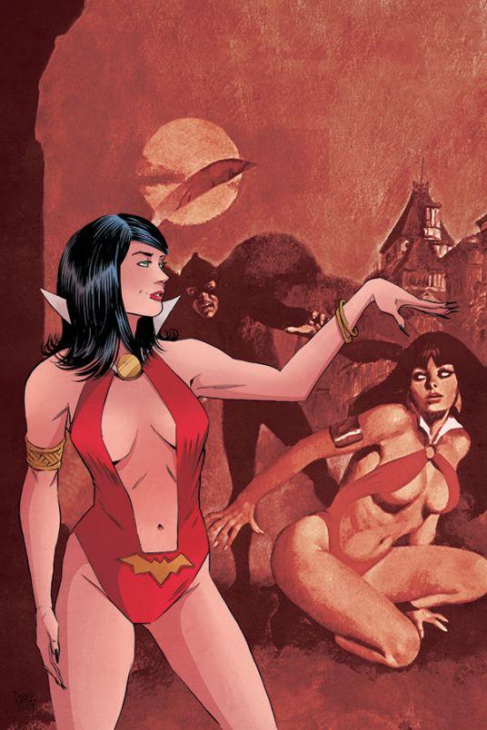 Dynamite Entertainment Vampirella/Red Sonja #3 Cover E (Virgin) by Drew Moss