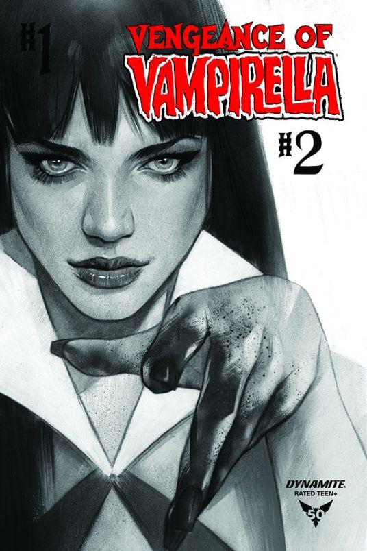 Dynamite Entertainment Vengeance of Vampirella #2 Cover B (Black & White) by Ben Oliver