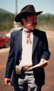John at the 1987 Polebridge Fourth of July parade