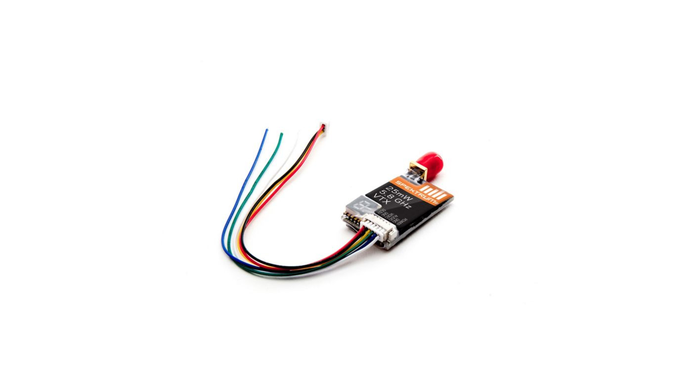 SPMVT025 Spektrum 25mw 5.8 GHz video transmitter with