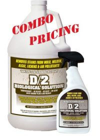 D2 Biological Solution 1 Gallon Bottle with 1-32 oz Quarts D2 Biological Solution Combo with Combo Pricing