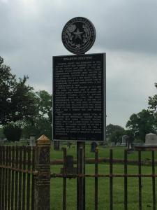 Historic Wharton Cemetery in Texas
