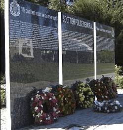 Scottish Police Memorial, Tulliallan in Fife,