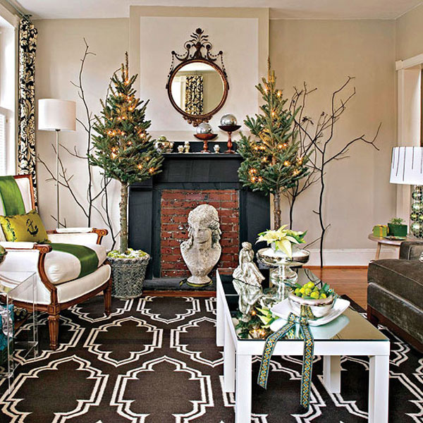 decorate small living room for christmas decoration ideas home 30 cosy decorating gravetics spirit into your 11
