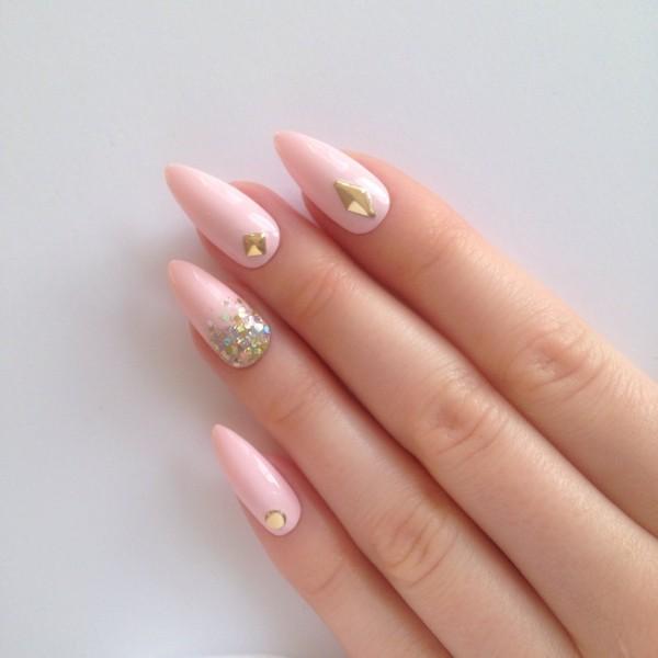 2017 Matte Stiletto Nails