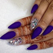 stunning pointy nail design