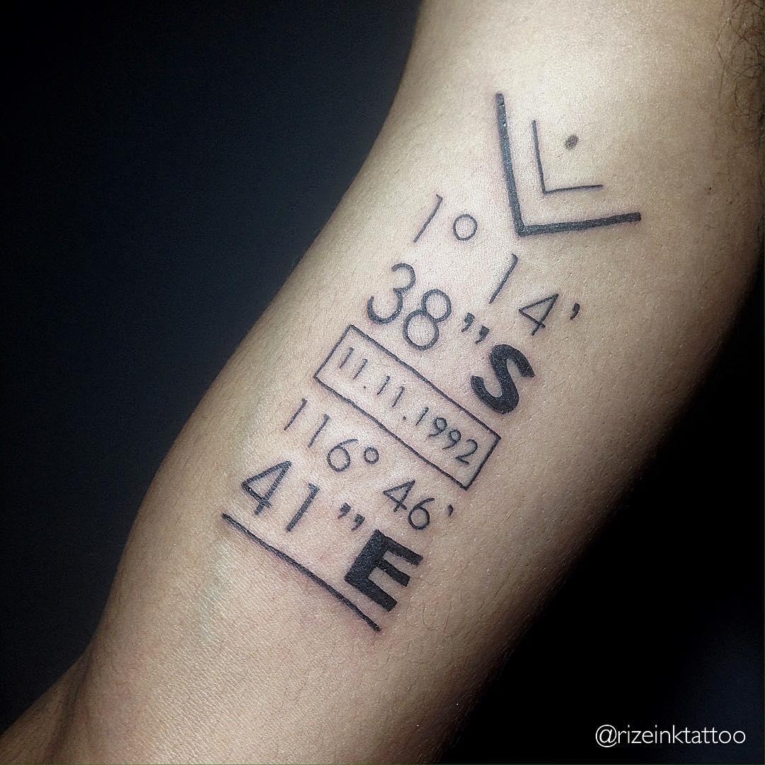 42 Stunning Coordinate Tattoo Design Ideas You Won T Regret