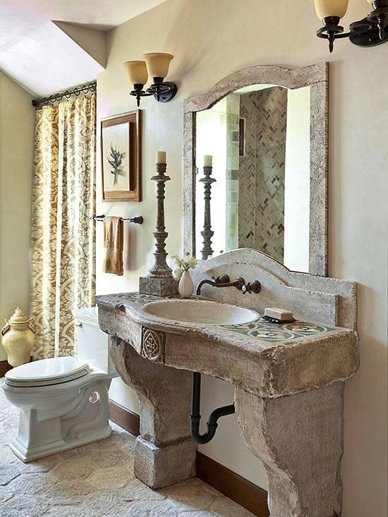 kitchen wall decor ideas bay window curtains 40 warm stone bathroom design that you will ...