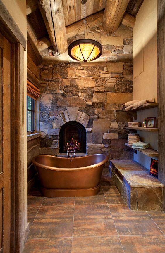 45 Vintage and Rustic Bathroom Designs for Homes with