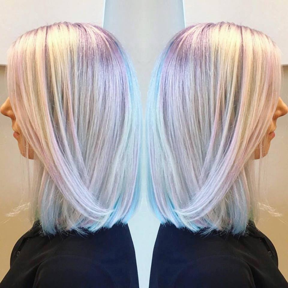40 Iridescent Holographic Hair Coloring Ideas to Make Your