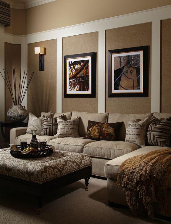 Wohnzimmer Braun Beige Einrichten