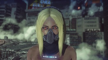 Closeup of the Kat costume in Let it Die.