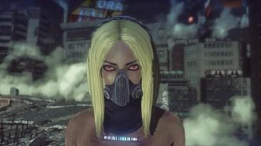 Closeup of the Kat costume in Let it Die.