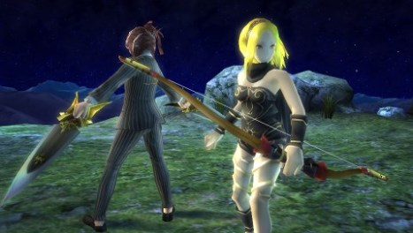 Alias and Kat's character models as seen in Ragnarok Odyssey Ace.
