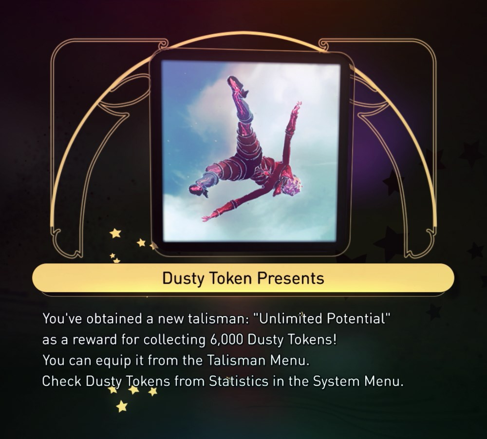 """Unlimited Potential"" Talisman - 6000 Dusty Tokens"