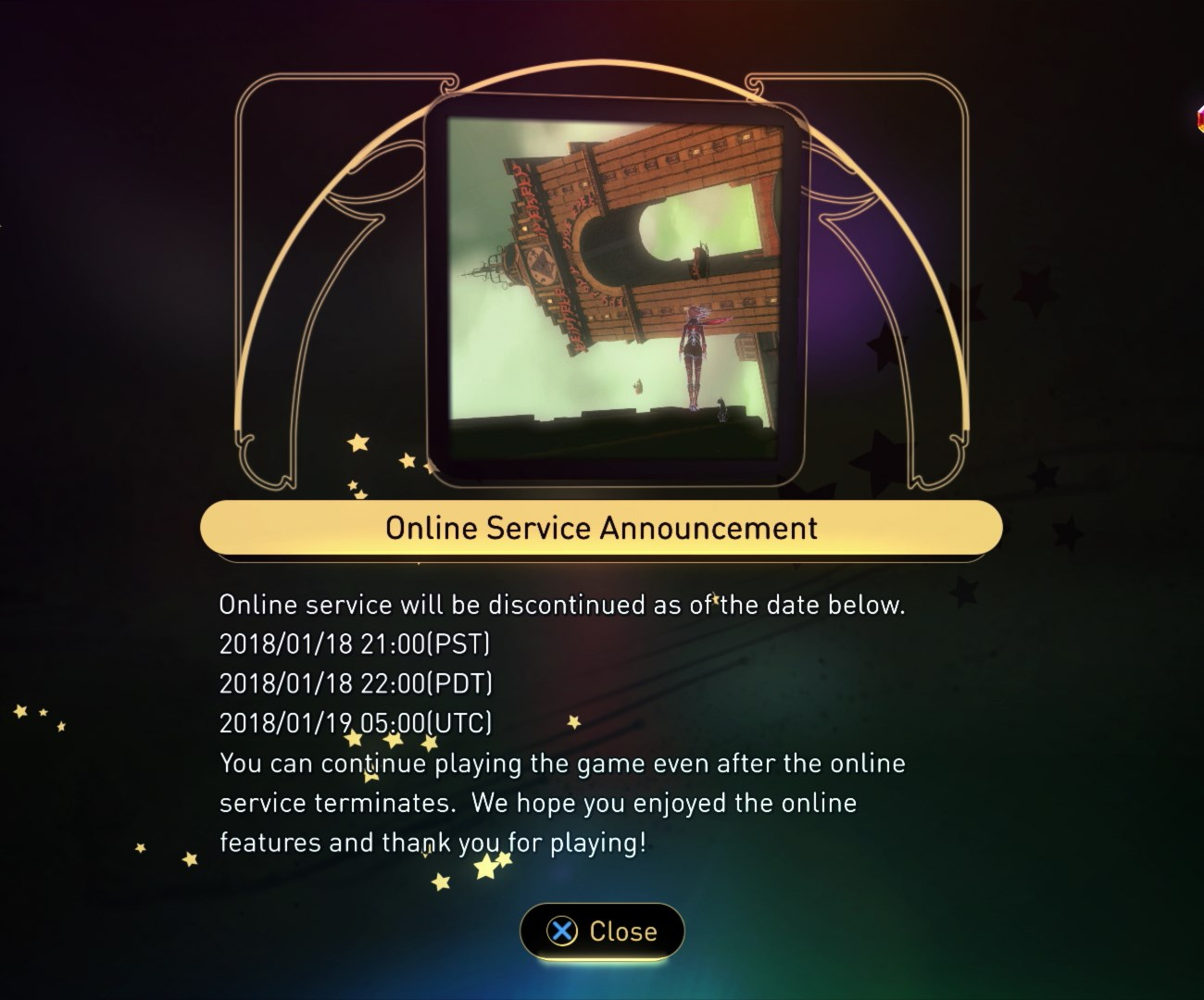 Gravity Rush 2 - Online Service Announcement