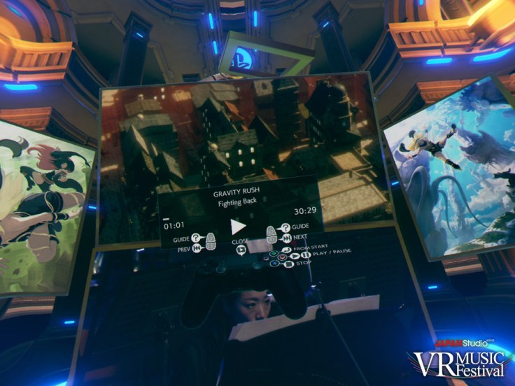 The virtual controller is represented in-game.