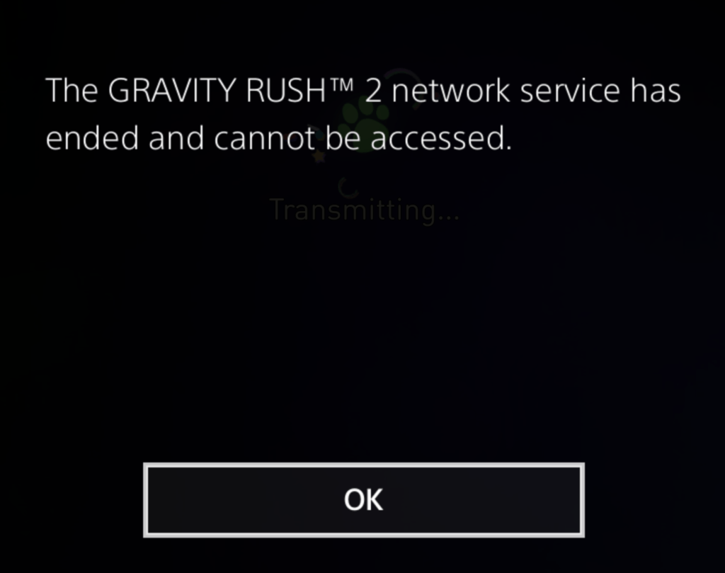 Gravity Rush 2 Services Ended