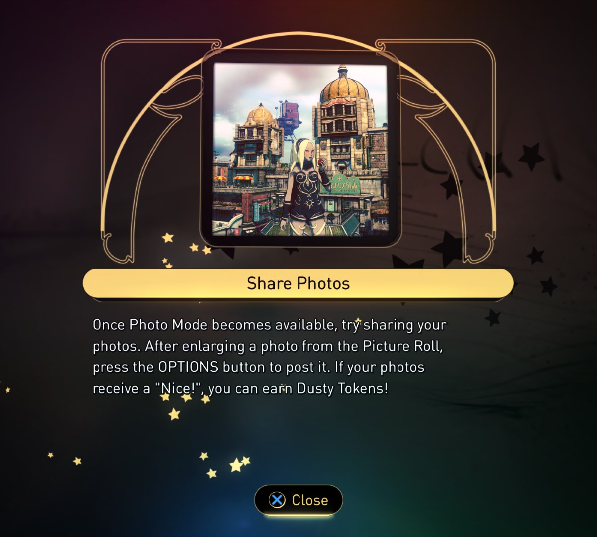 The in-game news topic about photo sharing.