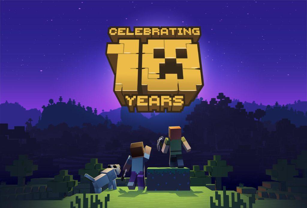 Minecraft 10th Anniversary Logo