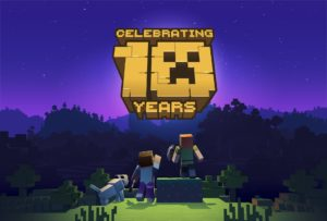 Minecraft 10th Anniversary Logo