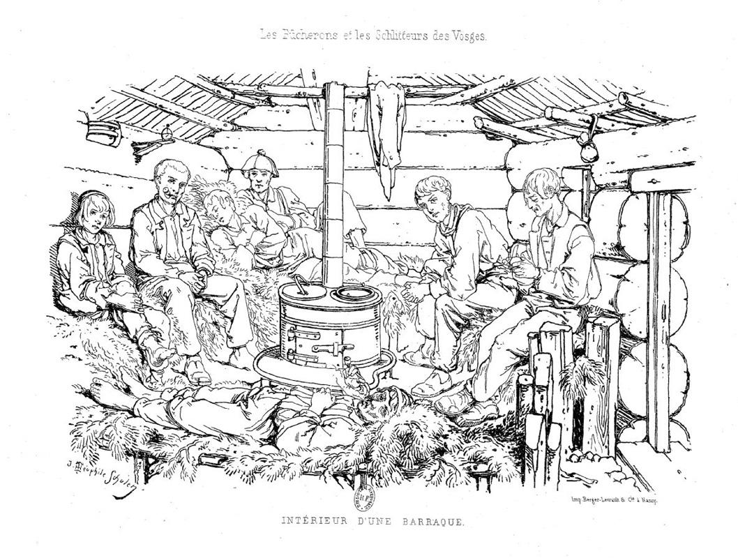 Les bûcherons et les schlitteurs des Vosges par Théophile
