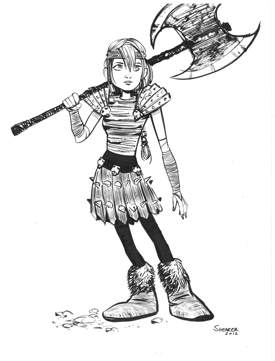Astrid How To Train Your Dragon 2 Drawing
