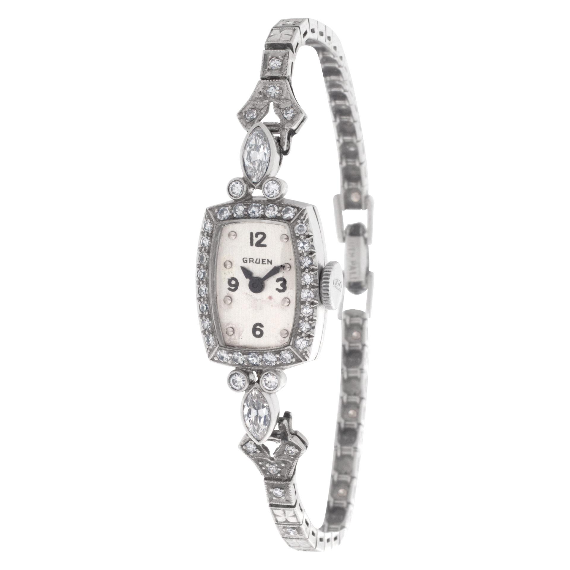 Gruen Classic 111 Platinum Silver dial 13.8mm Manual watch