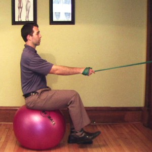 Seated PushPull Exercise Tract  Gray Chiropractic St