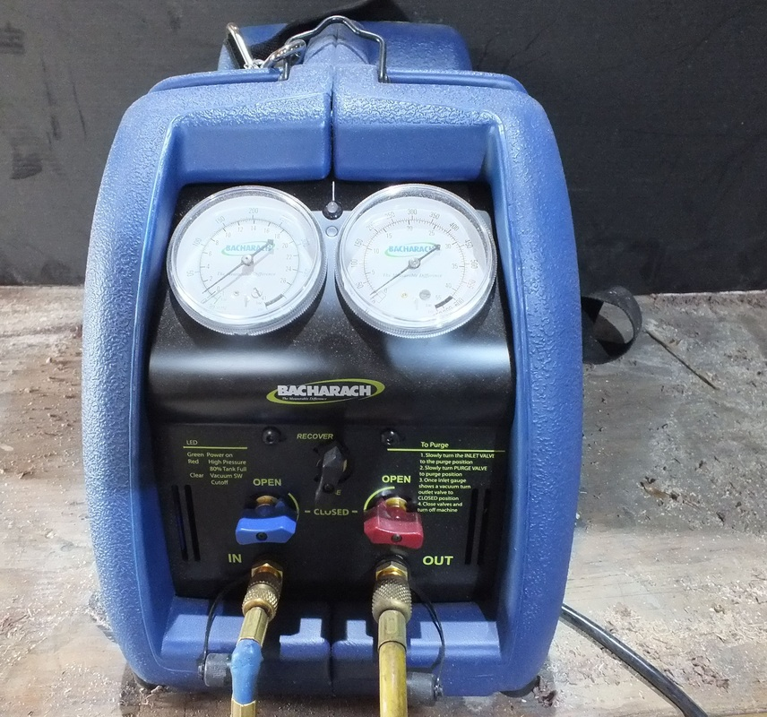 Recovery evacuation and pump down  Gray Cooling Man Air Conditioning Repair Advice