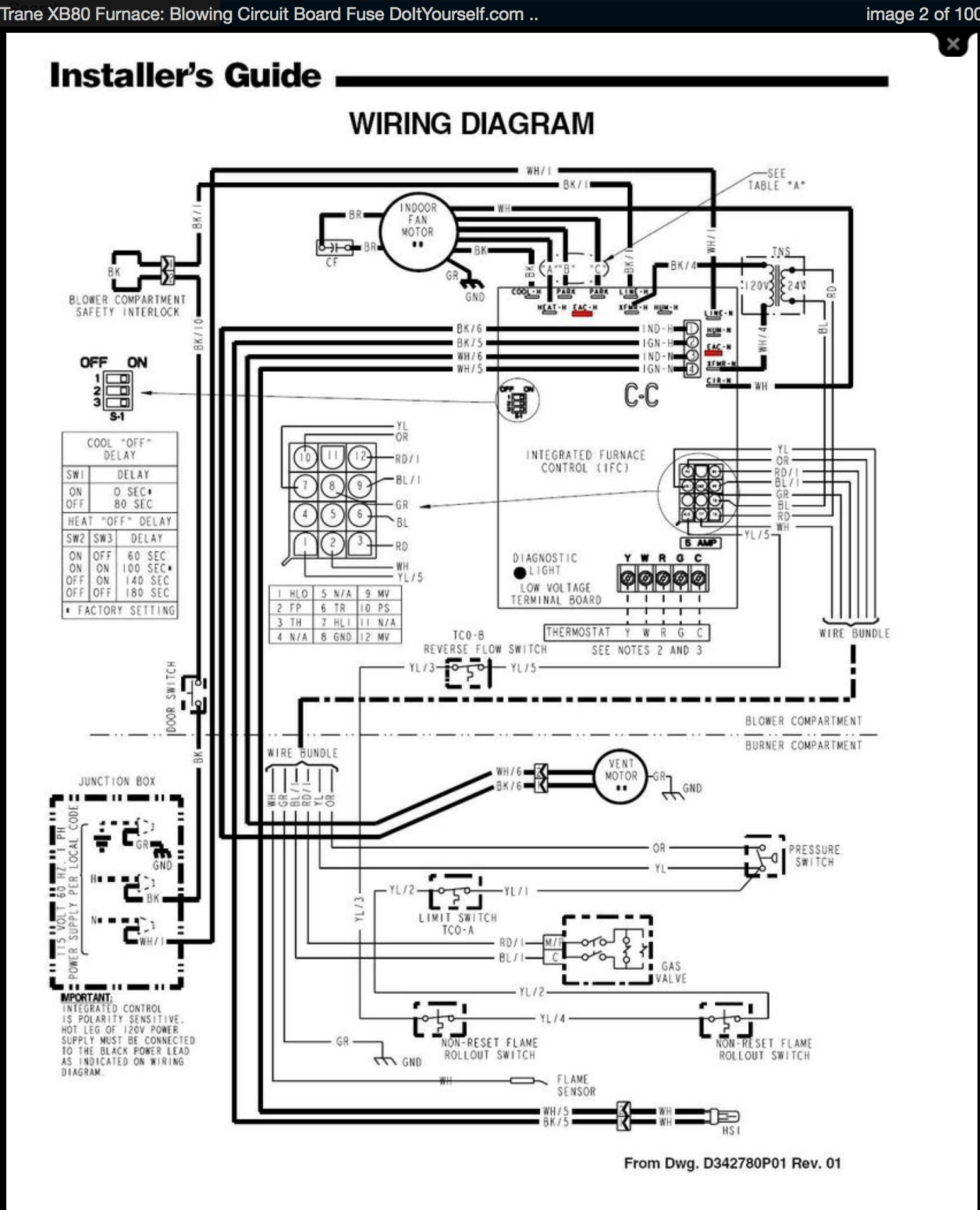 Trane Electric Heat Wiring Diagram