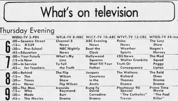 TV Listings Flashback: July 3, 1970 | grayflannelsuit net