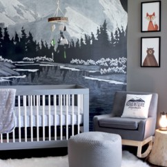Modern Nursery Rocking Chair Table Set Outdoor Themed : Room Tour | Gray House Studio