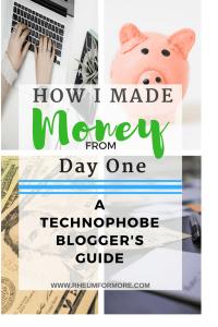 technophobe blogger beginner blogger make money blogging