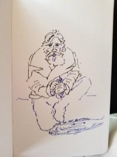 ink sketch of man