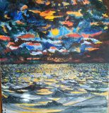 painting of water and sky