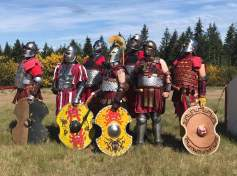 SCA group in armor