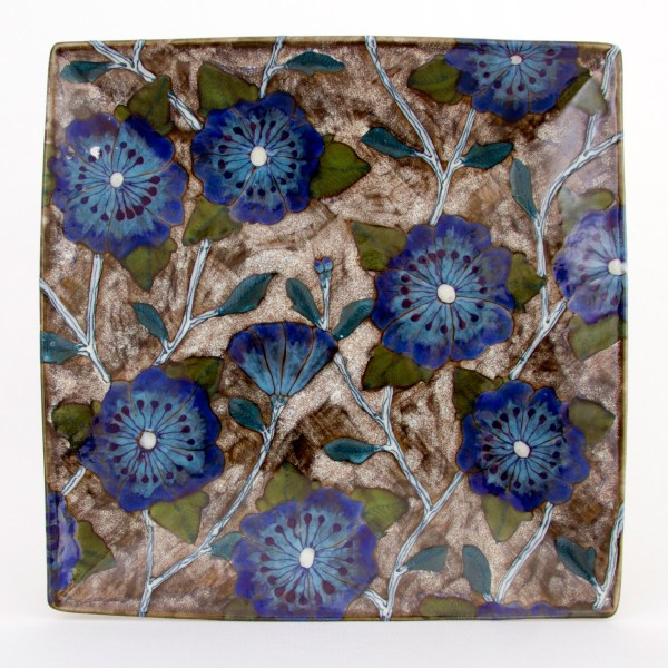 Blue Roses of Sharon Square Platter