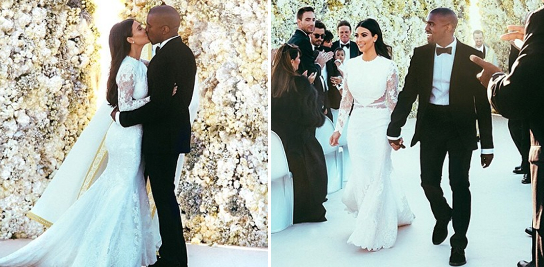 Kim Kardashian sie zeigt ihr Brautkleid  heie Hochzeits