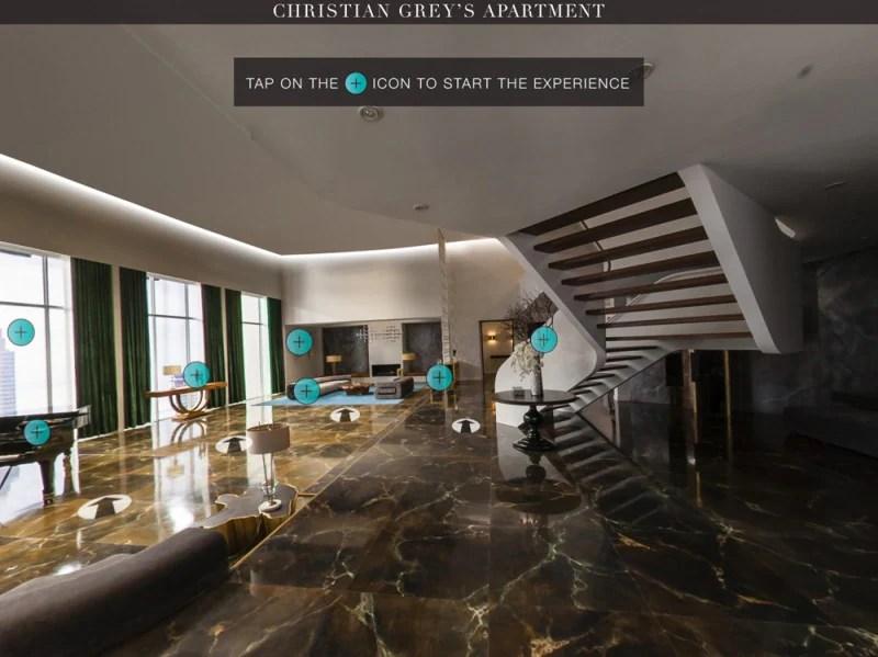 50 sfumature Christian Grey vi invita a casa sua