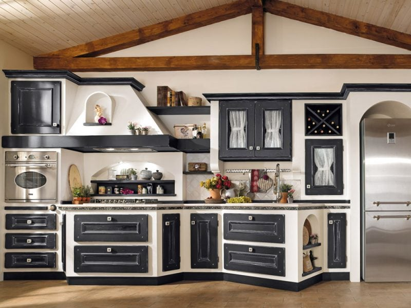 Cucine in muratura classiche rustiche e country  Graziait