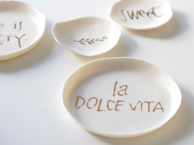 3. piattini GOLD PLATES