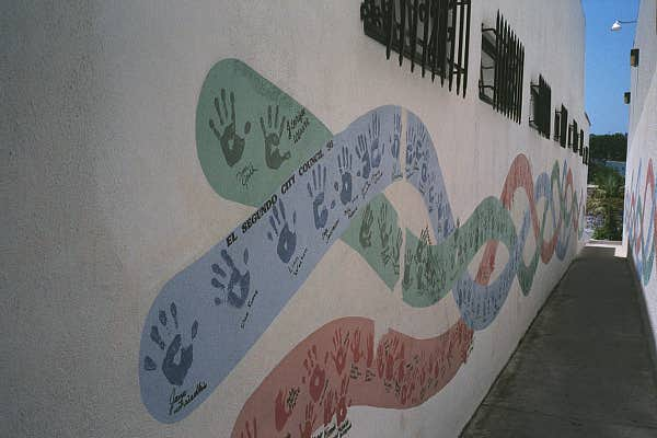 Handprint Alley Mural