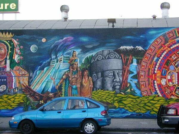 MexicoTenochitlan  The Wall That Talks mural
