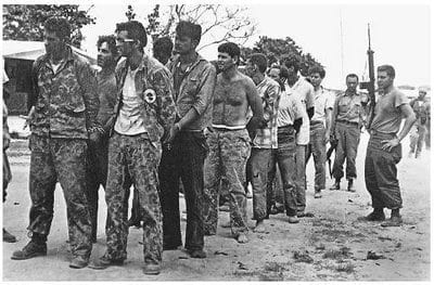 Playa Giron: Cuban reactionaries captured by the revolutionaries.