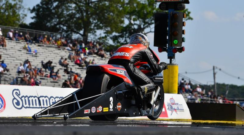 ANDREW HINES AND HARLEY-DAVIDSON WIN NHRA PRO STOCK MOTORCYCLE WORLD CHAMPIONSHIP