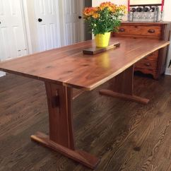 Cherry Wood Table And Chairs Folding Shower Chair Reclaimed Walnut Trestle With Extensions - Furniturereclaimed Furniture