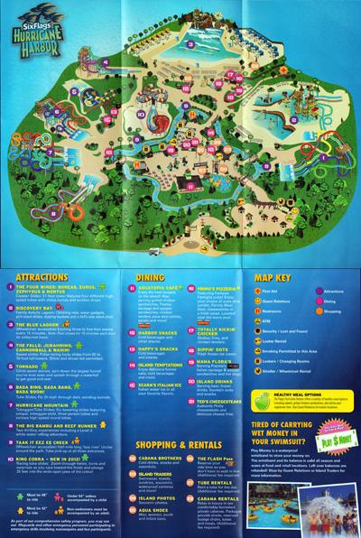 Great Adventure History 2012 Hurricane Harbor Map